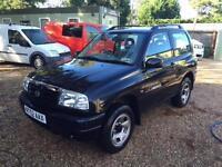 SUZUKI GRAND VITARA SPORT 16V 44,000 miles, Black, Manual, Petrol, 2003