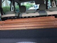 Ikea mahogany wood wooden blinds two sets