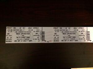 Bruce Springsteen Concert Tickets - Boston - Sept 14, 2016