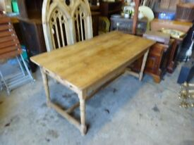 Old Pine Small Refectory Table