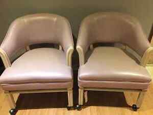 Purple Vintage Rolling Chairs