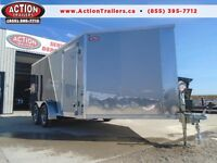AMERALITE 7 X 19 DRIVE IN/OUT ALL ALUMINUM ENCLOSED SLED TRAILR