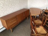 McIntosh Table, 6 x Chairs and Sideboard. Classic retro styling in a size to fit any room
