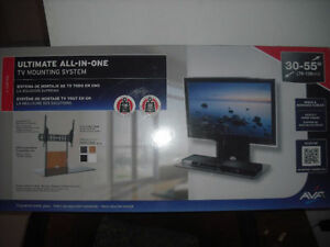 ultimate all in one 30 -55 tv mounting system