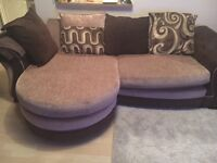 4 seater lounger, swivel chair & footstool, and coffee table - MUST GO IMMEDIATELY