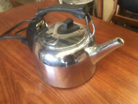 Genuine 1970's Russell Hobbs K2S Chrome 2.4kw Vintage Kettle. Working