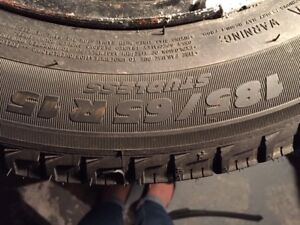 Michelin X-Ice Winter Tires on rims 185/65 R15 (1 month used)