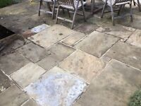 reclaimed york stone paving left over from patio build (9 sqm)- originally £1000+ from Bannolds