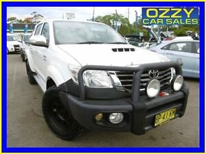 2012 Toyota Hilux KUN26R MY12 SR5 (4x4) White 5 Speed Manual Dual Cab Pick-up Penrith Penrith Area Preview