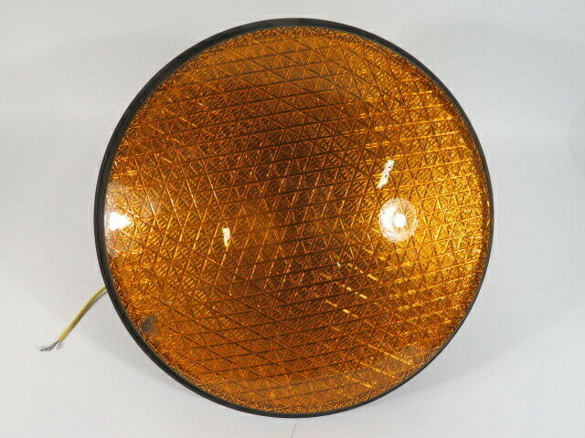 Leotek TSL-12Y-LX-IL3-A1-C Yellow Traffic Signal 80-135VAC SCRATCHED USED