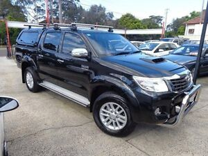 2013 Toyota Hilux KUN26R MY12 SR5 (4x4) Black 4 Speed Automatic Dual Cab Pick-up Sylvania Sutherland Area Preview