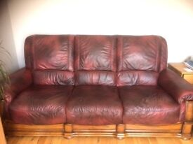 3 seater leather sofa