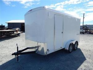 NEW 7X14 TANDEM ENCLOSED CARGO TRAILER SIDE X SIDE 7K