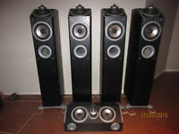 Mirage Omni 260 Speakers 4 towers + Centre Channel