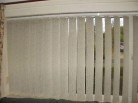 window vertical blind 3 sets cream white