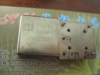1pc Used CETC CTI OSC5A2B02 10MHz 5V 26*26*12mm OCXO Crystal Oscillator #YH-60