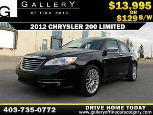 2012 Chrysler 200 Limited V6 $129 bi-weekly APPLY NOW DRIVE NOW