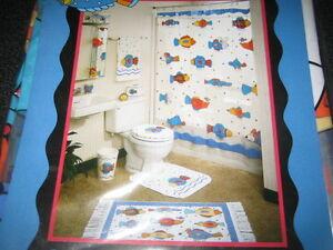 10 PIECE BATH DECOR SET FOR CHILDREN