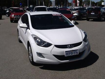 2012 Hyundai Elantra MD Elite White 6 Speed Sports Automatic Sedan Rockingham Rockingham Area Preview