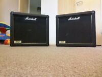 2x12 marshall speakers in perfect working order