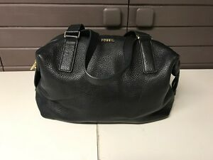 Fossil leather bag-black