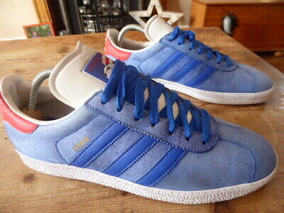 mens vintage ADIDAS france gazelle 1984 - size uk 9.5 ( 2007 ) good condition