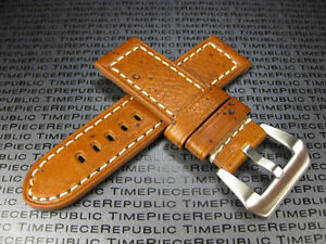22mm-NEW-MOON-COW-LEATHER-STRAP-Watch-Band-fit-BREITLING-Gold-Brown