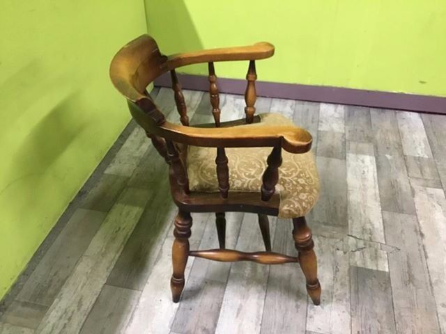 FURTHER REDUCTION - Solid Oak Captain Style Chair For Reupholstery - Can  Deliver for £19 | in Lancing, West Sussex | Gumtree