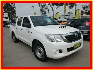 2011 Toyota Hilux KUN16R MY10 SR White 5 Speed Manual 4D UTILITY North Parramatta Parramatta Area Preview
