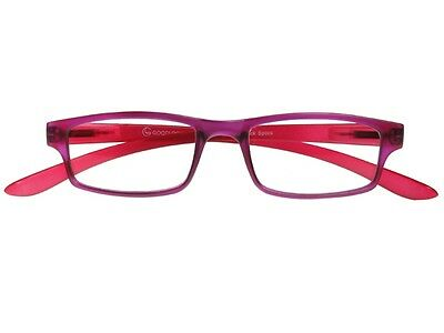 GL2136 Purple Red Neck Specs Clear Unisex Retro Reading Glasses (Redneck Sunglasses)