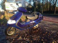 180 cc Piaggio hexagon. 2900 miles full mot. In fastest blue. Runs great very quick