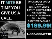 DUCT CLEANING INCLUDES FURNACE CLEANING & SANITIZER ONLY $189.99