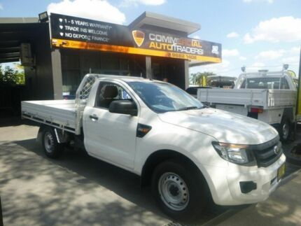 2014 Ford Ranger PX XL 4x2 White 6 Speed Manual Cab Chassis Merrylands Parramatta Area Preview
