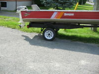 15 HP - 14 ft. springbok with trailer