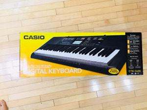 LIKE NEW- Casio CTK2400 61- Key Portable Keyboard  with pedal