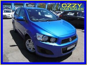 2012 Holden Barina TM MY13 CD Blue 5 Speed Manual Hatchback Penrith Penrith Area Preview