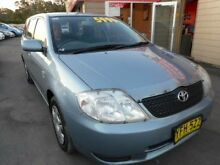 2002 Toyota Corolla ZZE122R Ascent Blue 5 Speed Manual Wagon Edgeworth Lake Macquarie Area Preview