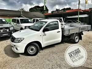 2011 Toyota Hilux KUN16R MY11 Upgrade SR White 5 Speed Manual Cab Chassis Islington Newcastle Area Preview