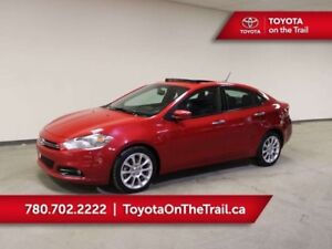 2013 Dodge Dart LIMITED; LEATHER, CAR STARTER, HEATED SEATS/WHEE