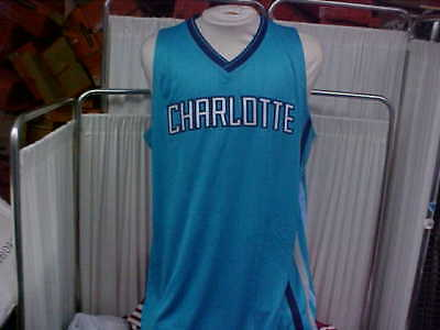 NBA 2015-2016 Charlotte Hornets Road Teal Blank Game Jersey Adidas Size  2XL+2 594f69b36
