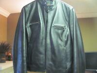 Danier Ladies leather black coat