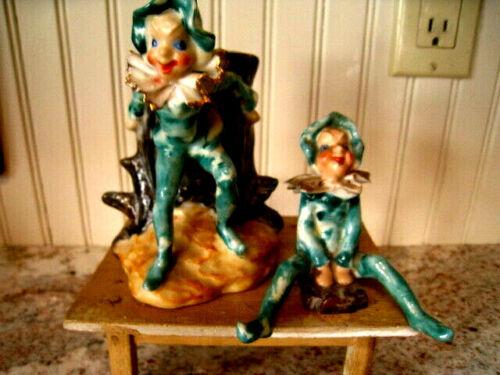 "2 Piece Occupied Japan Pixie Elf Planter 5"" & porcelain figurine 3"" vtg"