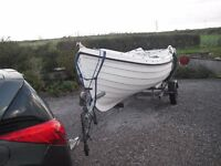 Orkney Longliner 16 GRP fishing boat Plus trailer & outboard.