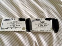 2 x Garbage standing tickets for Brixton Academy on 14/09/2018
