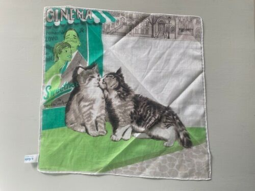 a. Scandia, 2 Cats Hanky - 3 Colors