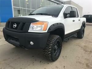 "2014 Nissan Titan PRO-4X Lifted, 33"" Tires, 20""Rims, Flares !!"