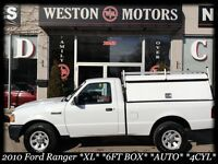 2010 Ford Ranger *XL*4CYL*6FT BOX*AUTO*LOW KMS*NEW TIRES*