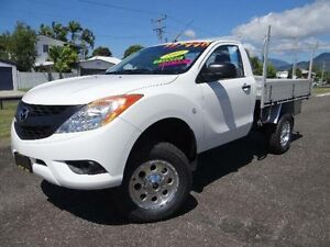 2012 Mazda BT-50 UP0YF1 XT (4x2) White 6 Speed Manual Cab Chassis Bungalow Cairns City Preview