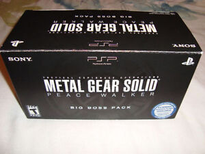 PSP LIMITED EDITION METAL GEAR SOLID PEACE WALKER BIG BOSS PACK