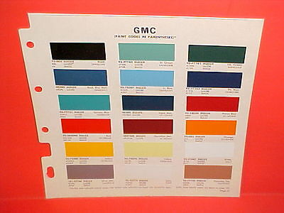 1968 GMC PICKUP TRUCK CARRYALL SUBURBAN PANEL DELIVERY HANDI VAN PAINT CHIPS 68